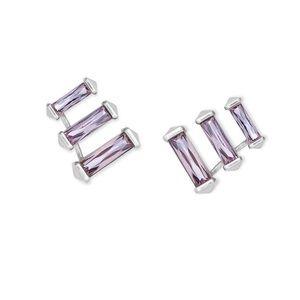 Kendra Scott Lilac Crystal Brooks Earrings